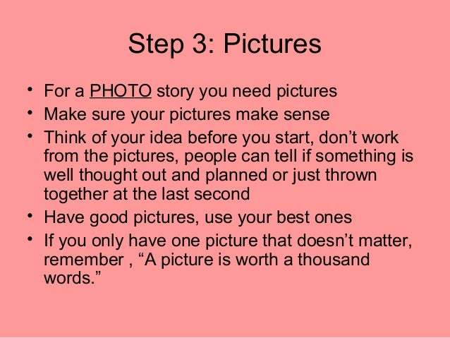 How to make a good story
