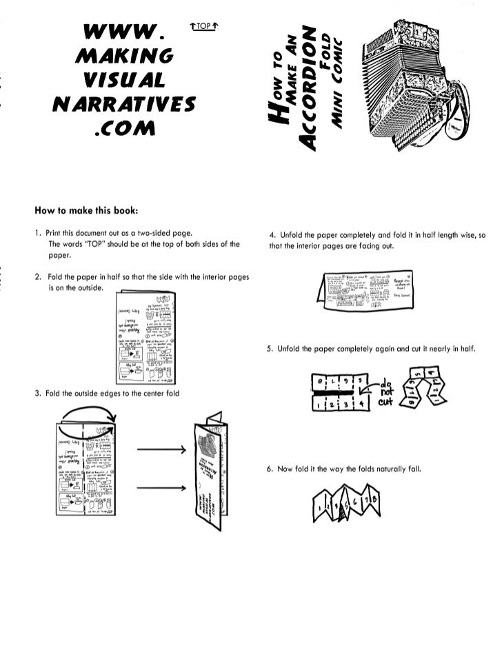 How to Make an Accordion Fold Mini Comic