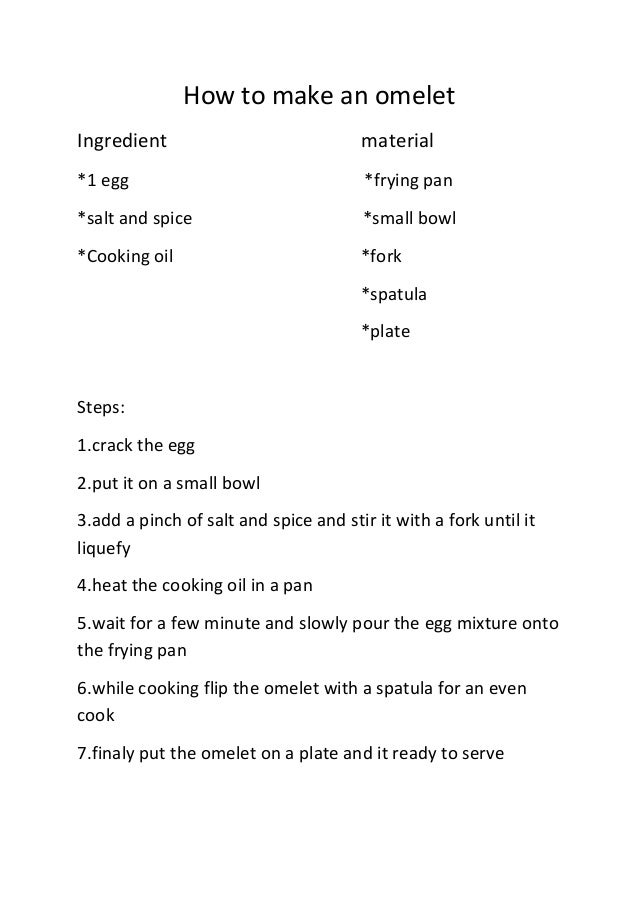 How To Make A Omelet