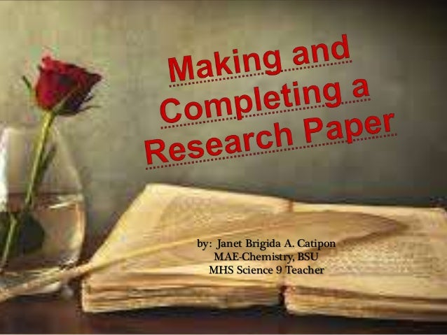 research paper making The research institute of paper history and technology is a non-profit organization, established in october of 1994 it occupies a handsome, 100-year old building, originally used as a carriage house.