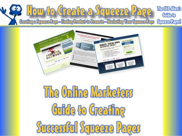 How to Make a Squeeze Page