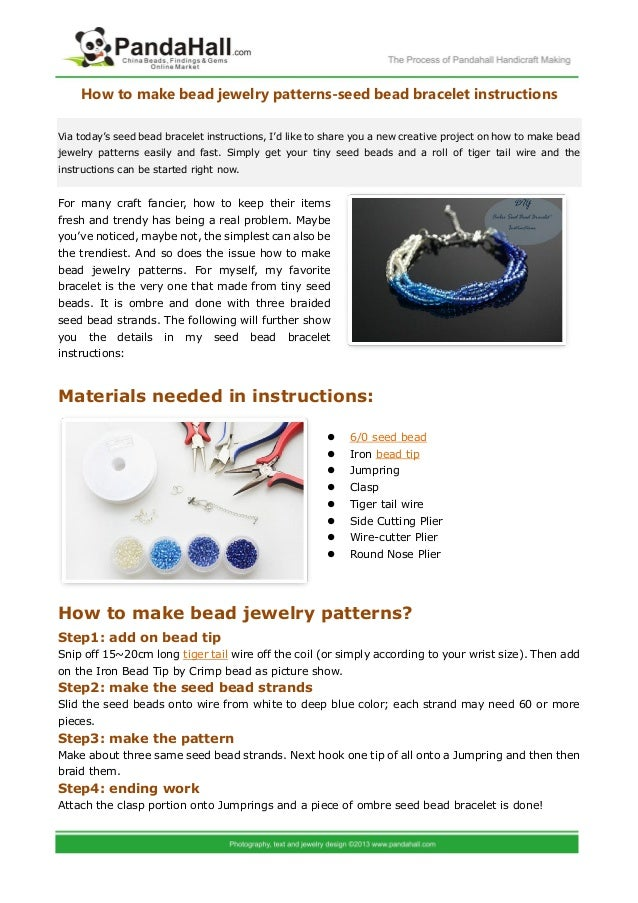 How to make bead jewelry patterns seed bead bracelet for Net making instructions