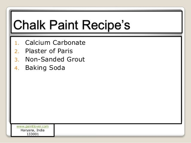 How To Make Chalk Paint With Plaster Of Paris