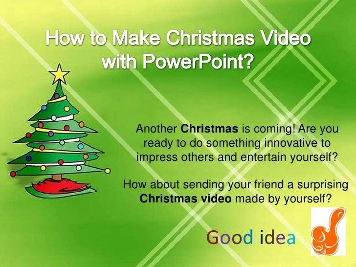 How To Make Christmas Video