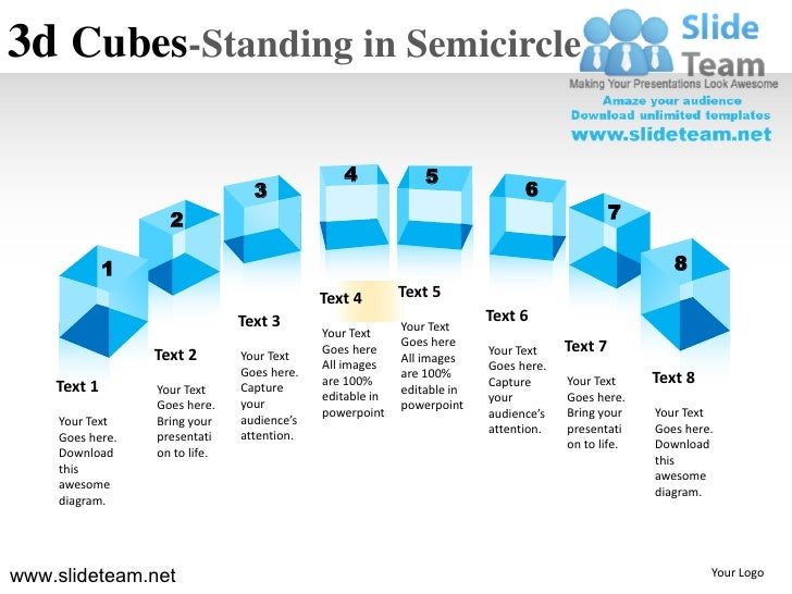 3d Cubes-Standing in Semicircle                                                4              5                           ...