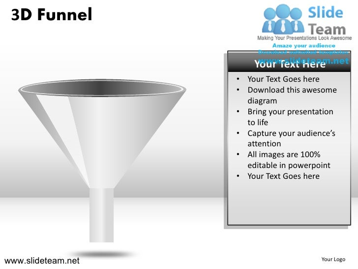How to make create 3d sales funnel powerpoint presentation slides and ppt templates graphics clipart