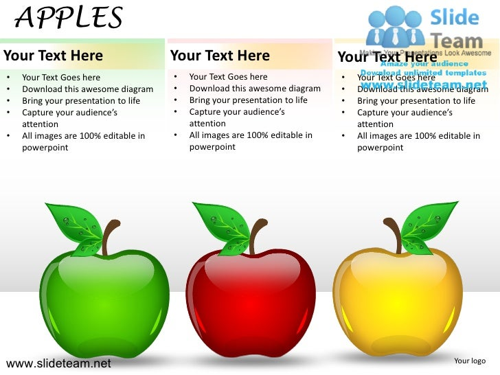 How to make create apples powerpoint presentation slides and ppt templates graphics clipart