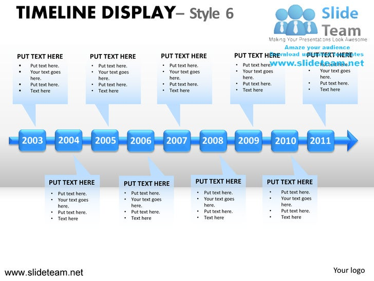 How to make create timeline display design 6 powerpoint presentation ...