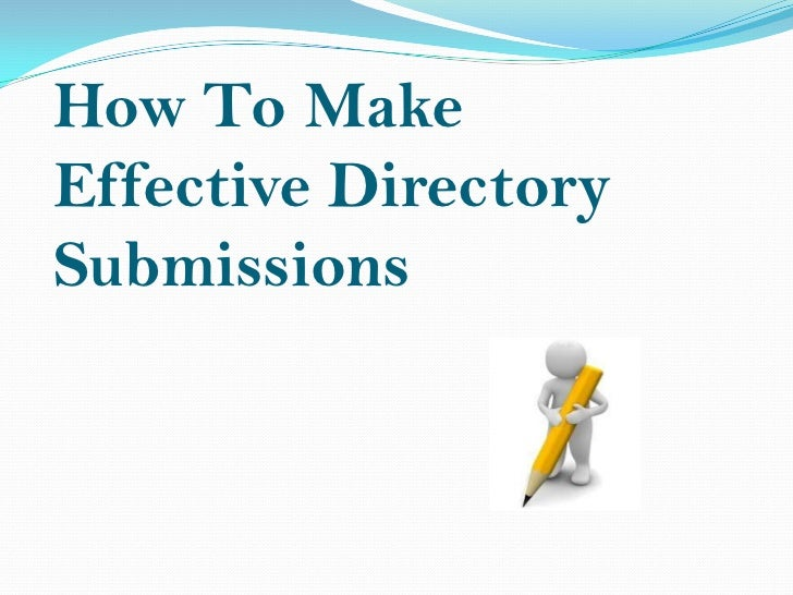 How to make effective directory submissions