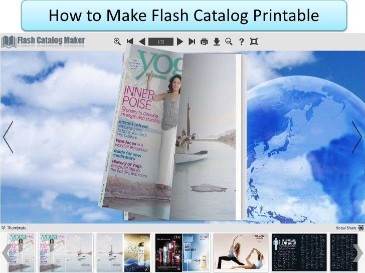 How to Make Flash Catalog Printable