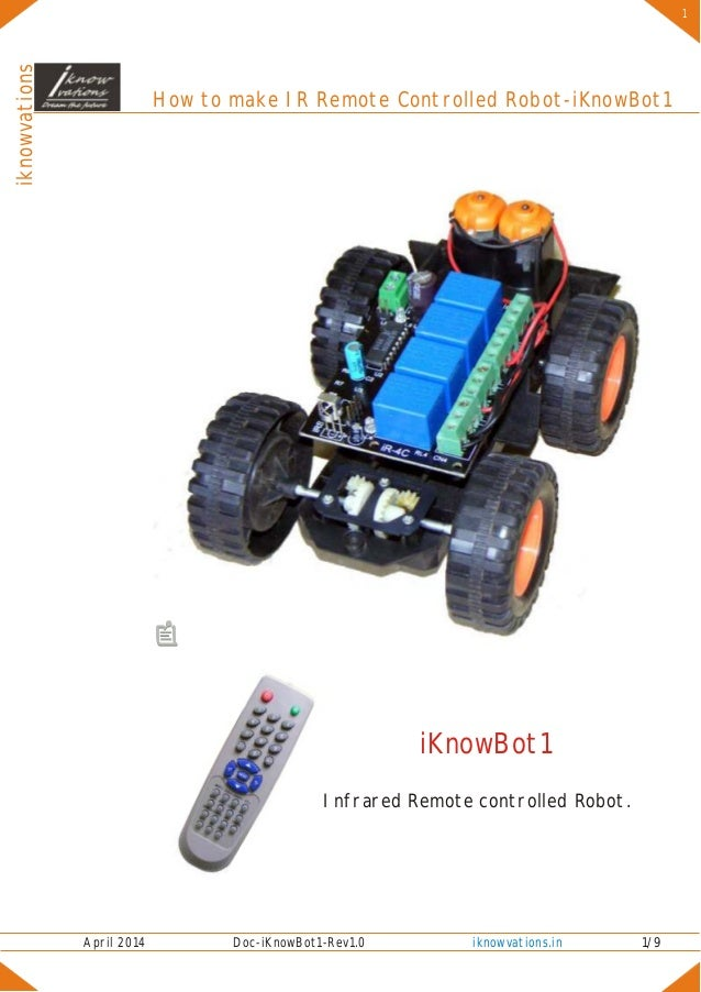 How to make ir remote controlled robot