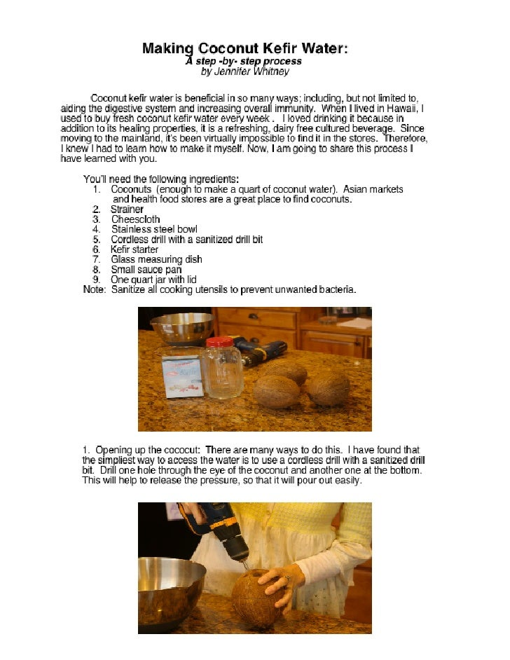 How to Make Coconut Kefir