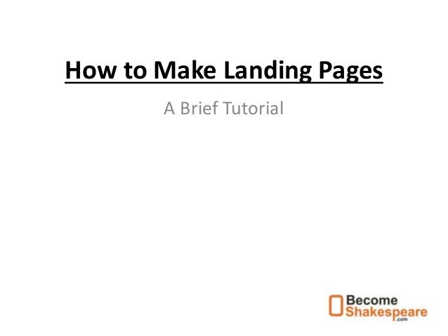 How to make landing pages