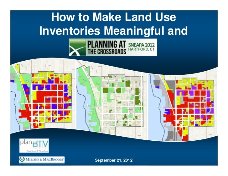 How to make land use inventories meaningful