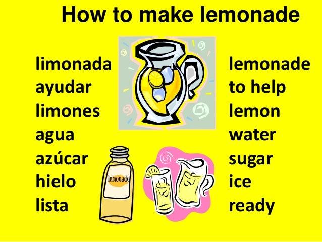 how to make lemonade in spanish. Black Bedroom Furniture Sets. Home Design Ideas