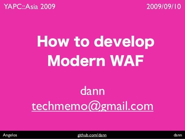 How to develop modern web application framework