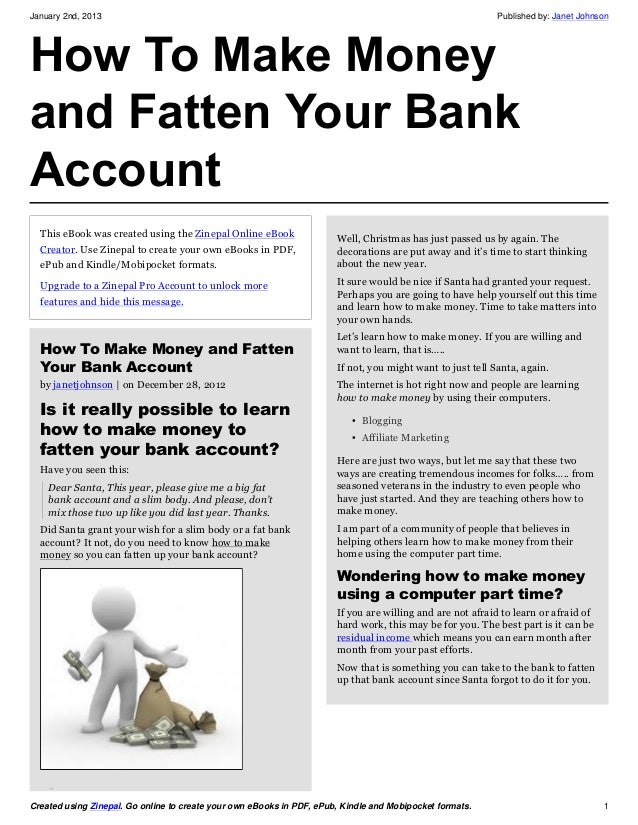 How to make money and fatten your bank account for How to make a coin bank