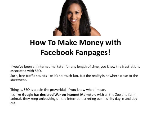 How to Make Money with Facebook Fanpages