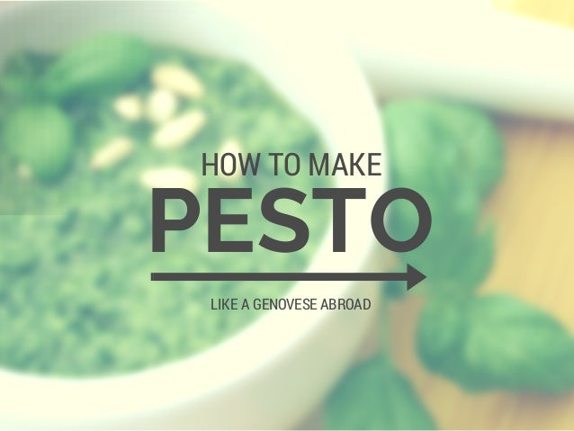 How To Make Pesto Like a Pro