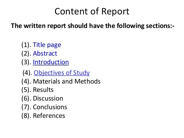 complete thesis report To fully understand what information particular parts of the paper should discuss, here's another research paper example including some key parts of the paper.