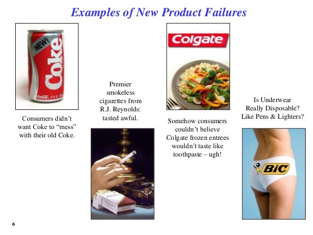"why new products fail essay As the plans for the rollout of 2018/2019 innovations are being developed i thought it would be a great time to address why new products fail we often hear that 80% of new products fail within the first 18 to 24 months and what i often hear is: ""we did all our due diligence to make sure it was a ."