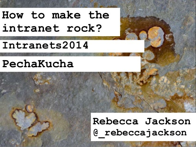 How to make the intranet rock (with user experience design)