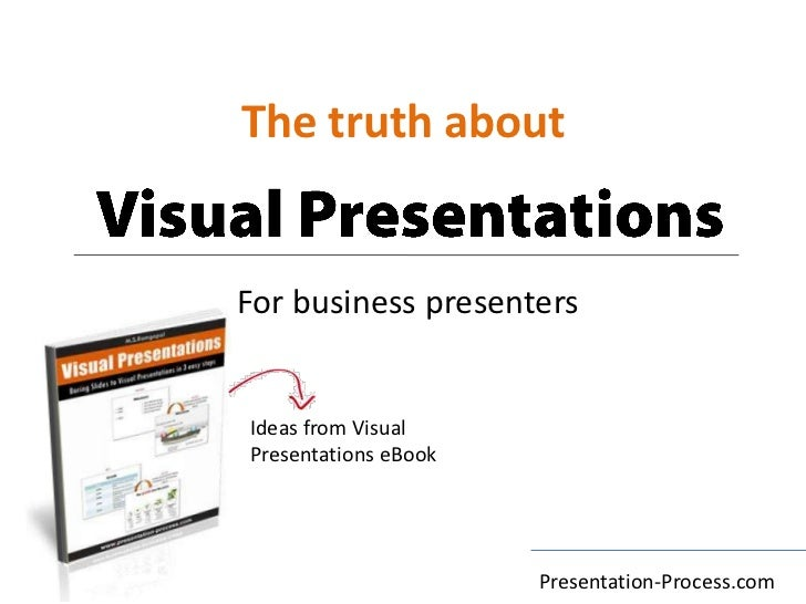 The truth about<br />Visual Presentations<br />For business presenters<br />Ideas from Visual Presentations eBook<br />Pre...