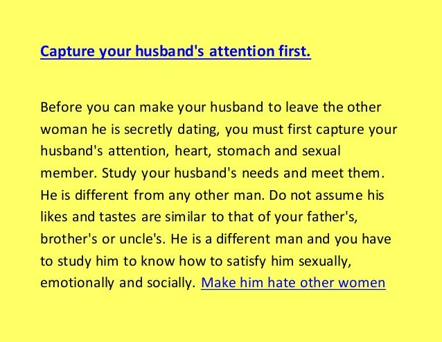 How to make your husband desire you sexually