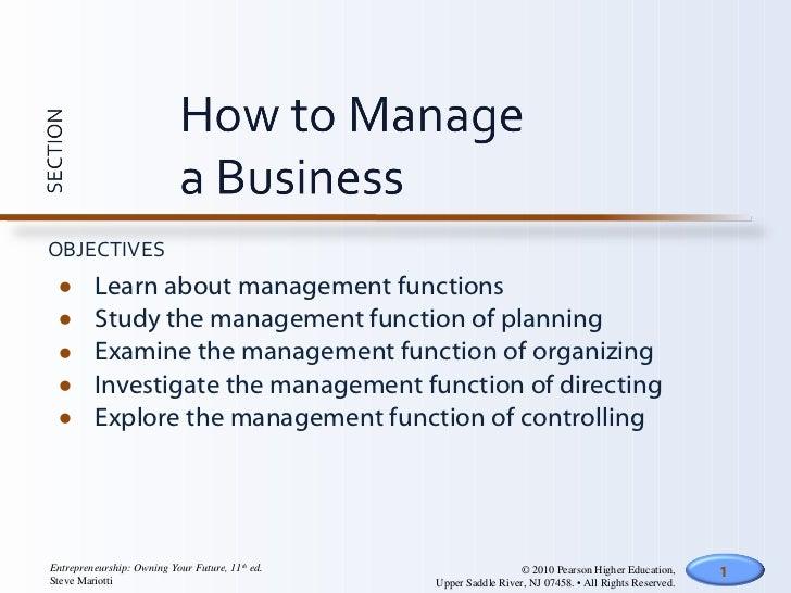 <ul><li>Learn about management functions </li></ul><ul><li>Study the management function of planning </li></ul><ul><li>Exa...