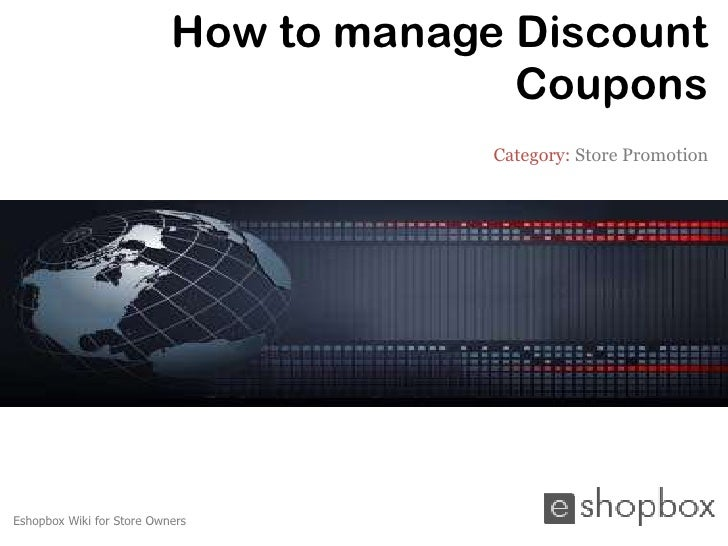 How to manage Discount                                         Coupons                                        Category: St...