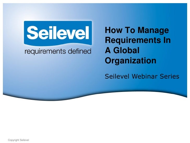 How to manage requirements in a global organization