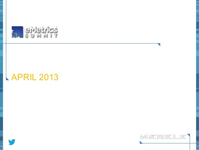 HOW TO MASTER THE ART  OF DASHBOARD DESIGN  APRIL 2013  @jenveese @brennertwit