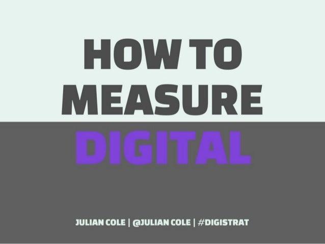 How to measure Digital