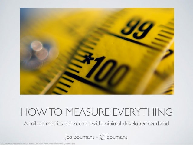HOW TO MEASURE EVERYTHING  A million metrics per second with minimal developer overhead  !  Jos Boumans - @jiboumans  http...