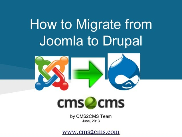 How to Migrate from Joomla to Drupal by CMS2CMS Team June, 2013 www.cms2cms.com
