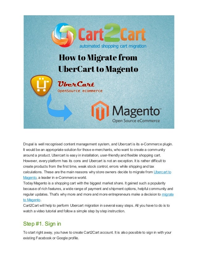How to Migrate from UberCart to Magento