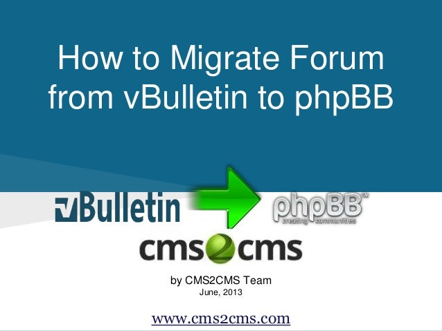 How to Migrate from vBulletin to phpBB