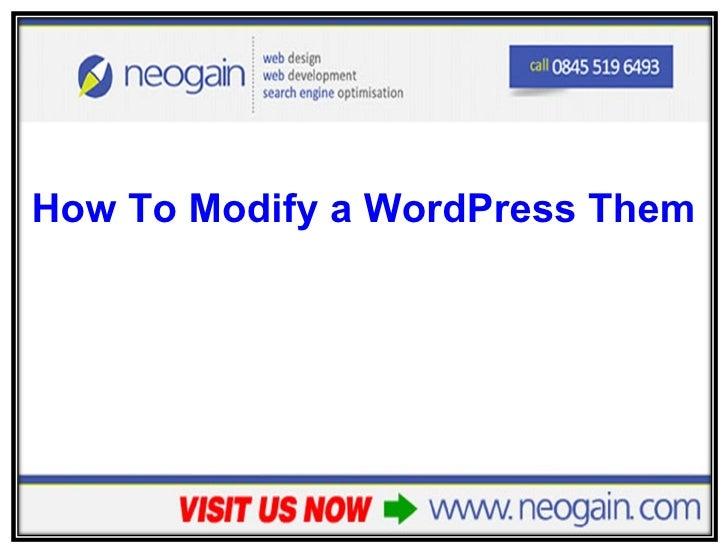 How To Modify a WordPress Theme's Colours - Part 2