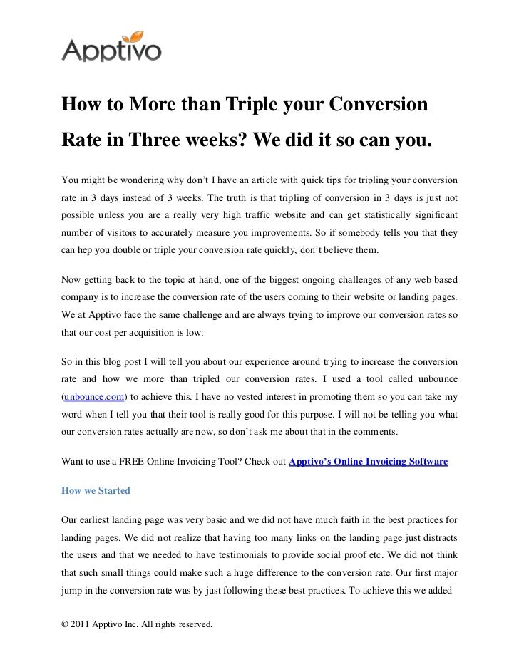 How to More than Triple your ConversionRate in Three weeks? We did it so can you.You might be wondering why don't I have a...