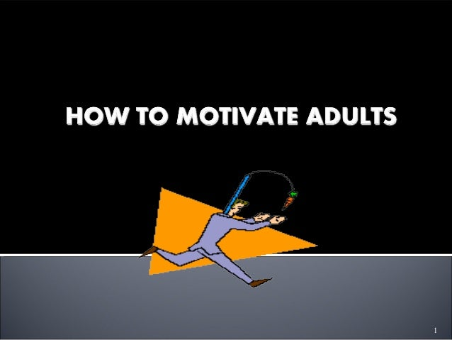 Motivation styles for adult learners you kidding