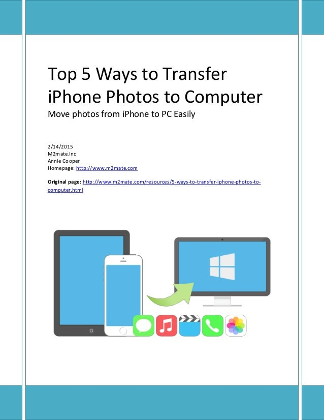To iphone move computer from photos