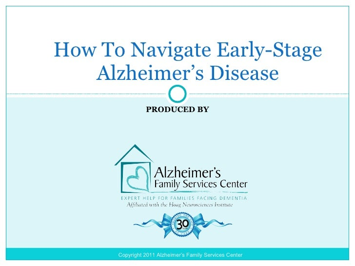 How to navigate early stage alzheimers disease