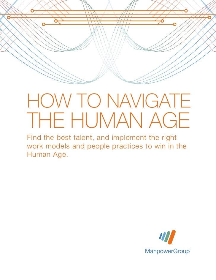 ManpowerGroup: How to Navigate the Human Age