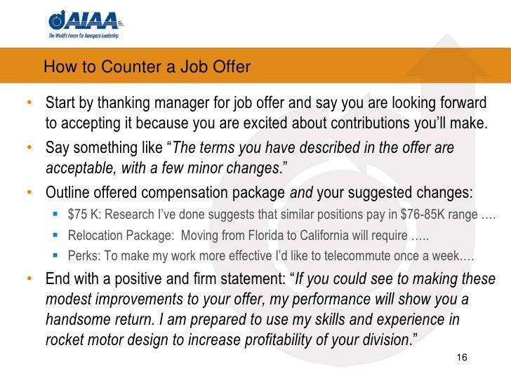 job offer counter offer