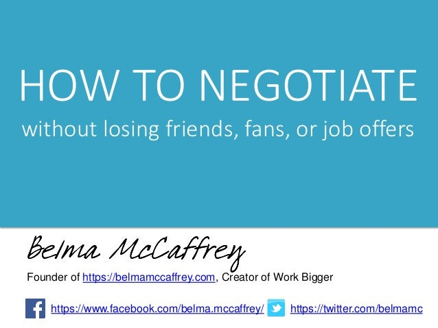how to negotiate in work