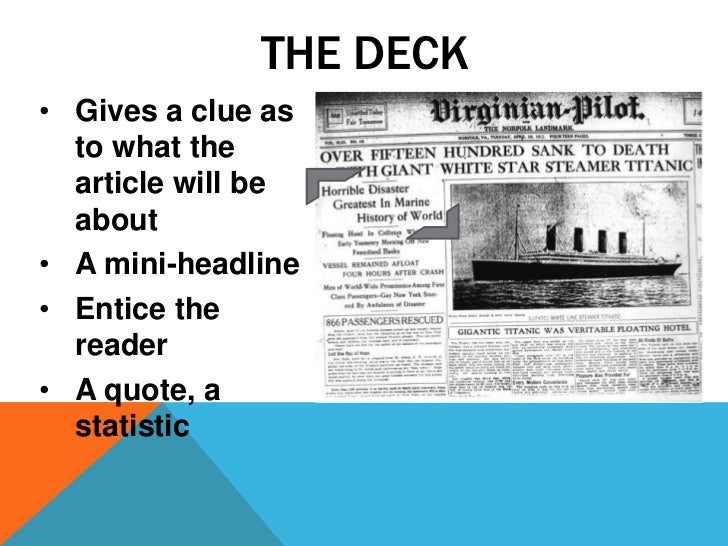 How to do a newspaper article