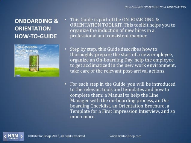 how to create an orientation manual