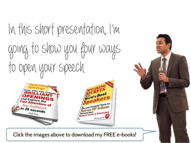 how to write a presentation speech
