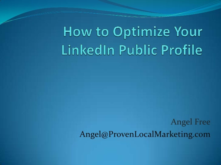 How to Optimize Your Linkedin Public Profile