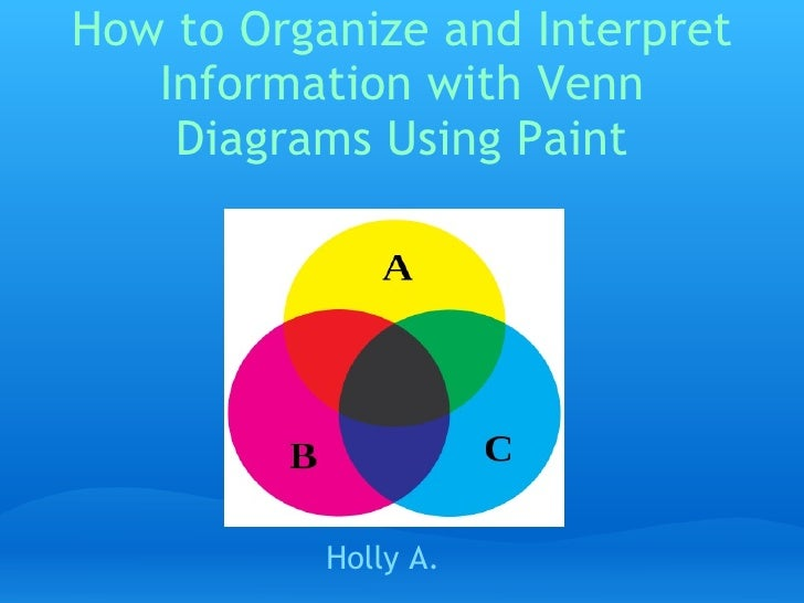 How to Organize and Interpret Information with Venn Diagrams Using Paint Holly A.
